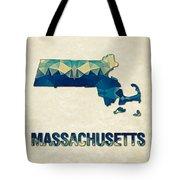 Polygon Mosaic Parchment Map Massachusetts Tote Bag