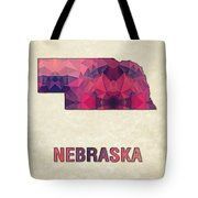 Polygon Mosaic Parchment Map Nebraska Tote Bag
