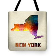 Polygon Mosaic Parchment Map New York Tote Bag