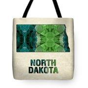 Polygon Mosaic Parchment Map North Dakota Tote Bag
