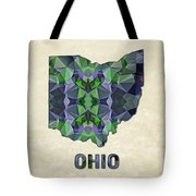Polygon Mosaic Parchment Map Ohio Tote Bag