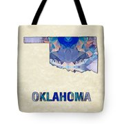 Polygon Mosaic Parchment Map Oklahoma Tote Bag