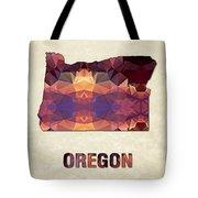 Polygon Mosaic Parchment Map Oregon Tote Bag