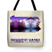 Polygon Mosaic Parchment Map Pennsylvania Tote Bag