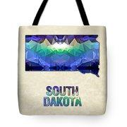 Polygon Mosaic Parchment Map South Dakota Tote Bag