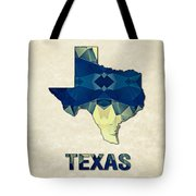 Polygon Mosaic Parchment Map Texas Tote Bag