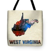 Polygon Mosaic Parchment Map West Virginia Tote Bag