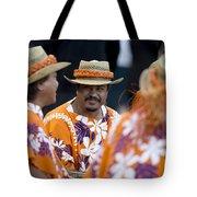 Polynesian Musicians Tote Bag