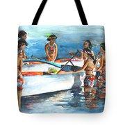 Polynesian Vahines Around Canoe Tote Bag