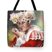 Polynesian Woman Tote Bag