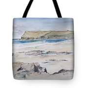 Polzeath And Pentire Head Tote Bag