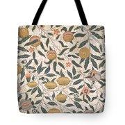 Pomegranate Design For Wallpaper Tote Bag by William Morris