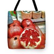 Pomegranates In Open Market Tote Bag