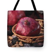 Pomegranates And Almonds Tote Bag