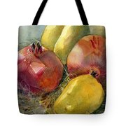 Pomegranates And Pears Tote Bag
