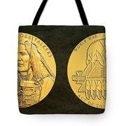 Ponca Tribe Code Talkers Bronze Medal Art Tote Bag