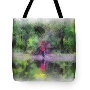 Pond Fishing Photo Art Tote Bag