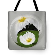 Pond Flower Orb Tote Bag
