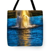 Pond Fountain Tote Bag