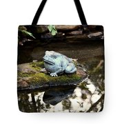 Pond Frog Statuette Tote Bag