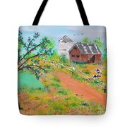Pond Hill Road Tote Bag