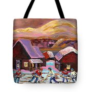 Pond Hockey 1 Tote Bag