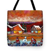 Pond Hockey Game 2 Tote Bag