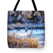 Pond Hockey - Painterly Tote Bag