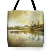 Pond In Spring Tote Bag