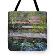 Pond In The English Walled Gardens Tote Bag