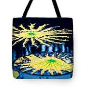 Pond Lily Pad Abstract Tote Bag