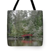 Pond Of Green Trees  Tote Bag