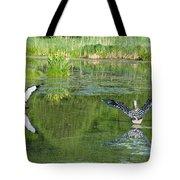 Pond Pairs Dancing Tote Bag