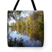 Pond Reflection At Limehouse Ontario Tote Bag