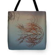 Pond Weed Reflections Tote Bag