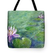 Green Pond With Water Lily Tote Bag
