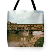 Pont De Vecchio On The Arno Tote Bag