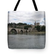 Pont Saint Benezet And Pope Palace Tote Bag