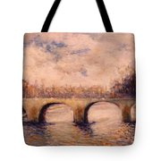 Pont Sur La Seine Tote Bag