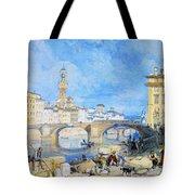 Ponte Santa Trinitia Florence Tote Bag