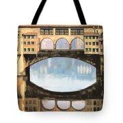 Ponte Vecchio A Firenze Tote Bag by Guido Borelli