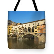 Ponte Vecchio Bridge In Florence Tote Bag
