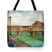 Ponte Vecchio Florence Italy Tote Bag