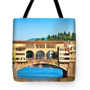 Ponte Vecchio In Florence Tote Bag