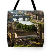 Ponte Vecchio Late Afternoon Tote Bag by Jon Berghoff