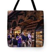 Ponte Vecchio Merchants - Florence Tote Bag