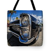 Pontiac Gto Convertible Ft Myers Beach Florida Tote Bag by Edward Fielding