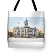 Pontiac Michigan - Ponitiac Court House - 1910 Tote Bag