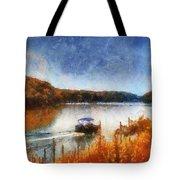 Pontoon Boat Photo Art 02 Tote Bag