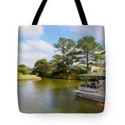 Pontoon Boat Ride On The Lake Tote Bag